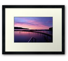 Sunrise - Malabar Baths Framed Print
