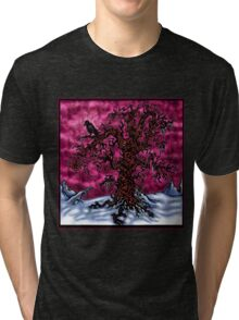 Lone Oak Tree Tri-blend T-Shirt