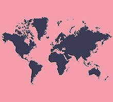 World Splatter Map - npink by Mark McKinney