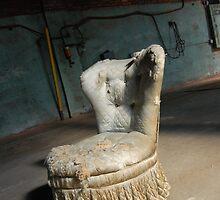 empty warehouse chair by RunningBackward