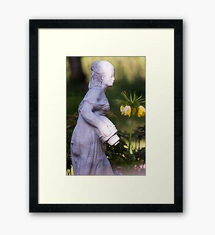 Watering Girl Framed Print
