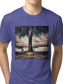 the cat and the sea Tri-blend T-Shirt