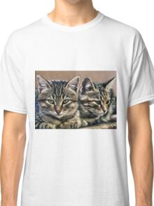 mother and child wild cats Classic T-Shirt