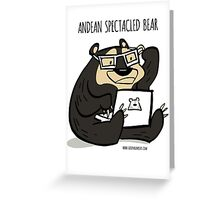 Andean Spectacled Bear Greeting Card
