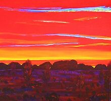KataTjuta Evening  by Virginia McGowan