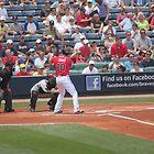 Chipper Jones Atlanta Braves At Bat 05/16/10 by Patricia Cleveland