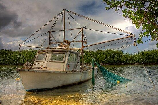 Card Sound Fishing Boat by njordphoto