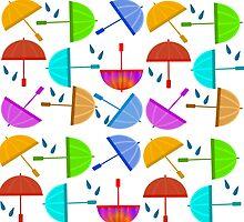 Umbrellas all around by elledeegee
