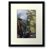Riding Fast Back to the Past Framed Print