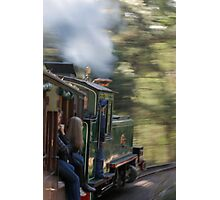 Riding Fast Back to the Past Photographic Print