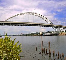 Fremont Bridge, Portland Oregon by Bob Hortman