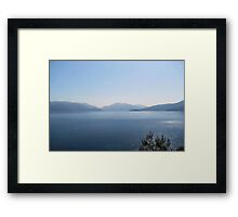 The Turquoise Coast Framed Print