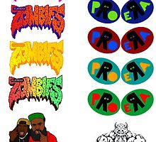 Pro Era Flatbush Zombies Collab Trippy Colours by wallyw