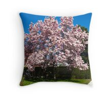 Magic Magnolia Tree Throw Pillow