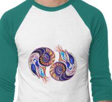Nautilus Shell Phi Circle Men's Baseball ¾ T-Shirt