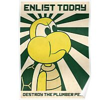 Enlist today Poster