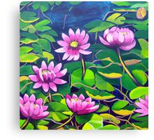 Waterlillies in Japanese Gardens Canvas Print