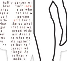 Half a Person Sticker