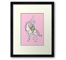 Old wizzard. Magic horse rider Framed Print