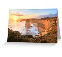 Twelve Apostles Sunset, Great Ocean Road, Australia Greeting Card