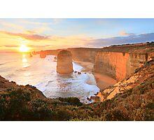 Twelve Apostles Sunset, Great Ocean Road, Australia Photographic Print