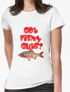 Red Got fishy guts Womens Fitted T-Shirt