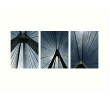 The Anzac Bridge - triptych Art Print