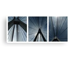 The Anzac Bridge - triptych Canvas Print