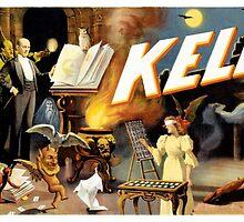 Harry Kellar Magician Vintage Poster Restored by Carsten Reisinger