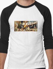 Harry Kellar Magician Vintage Poster Restored Men's Baseball ¾ T-Shirt