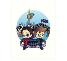 Winchesters in Sydney Art Print