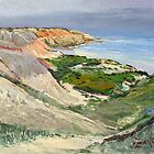 Maslin Beach Oil Sketch  by Pieter  Zaadstra