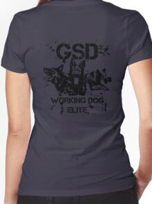 GSD - Working dog elite Women's Fitted V-Neck T-Shirt
