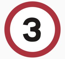 Speed Limit 3 Road Sign by ukedward