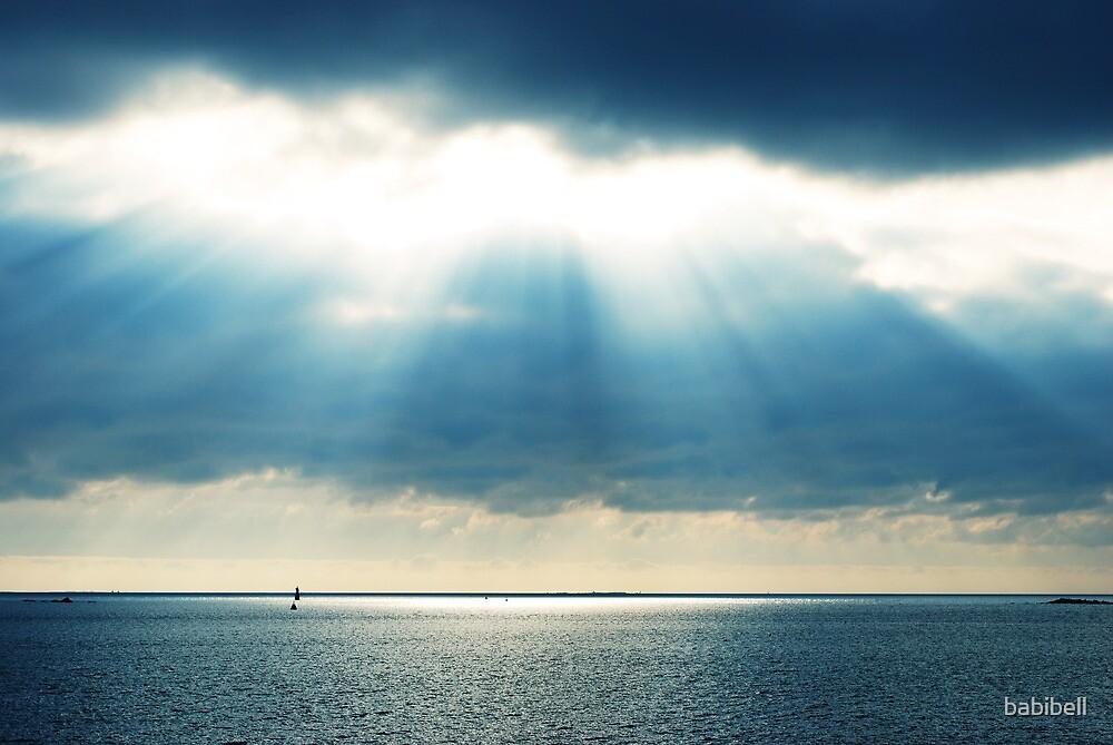 Blue Sunburst by Claire Dimond