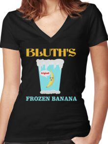 Frozen Banana! Women's Fitted V-Neck T-Shirt