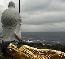 Golden Buddha and Muroto Cape by Tomoe Nakamura