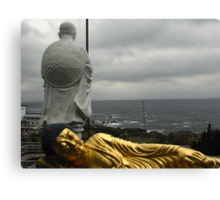 Golden Buddha and Muroto Cape Canvas Print