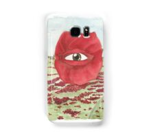 In a field of blind poppies, one eye is king Samsung Galaxy Case/Skin