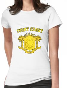 Ivory Coast Coat of Arms Womens Fitted T-Shirt