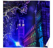 Natural History Museum, London, By Night Poster