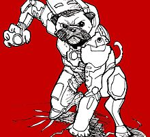 Pugs Love Comics Too - Iron Pug by DoultreeDesigns