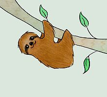 Sloth in Tree by zoel