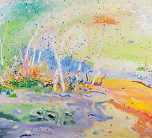 Birch grove by Kerry  Thompson