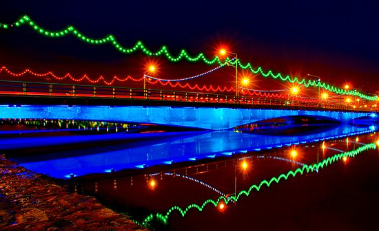 Ferdowsi Bridge - Isfahan - Iran by Bryan Freeman