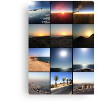 Morocco Landscape And Sunrise to Sunsets Canvas Print