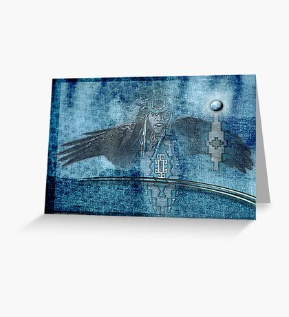 blue lightning Greeting Card