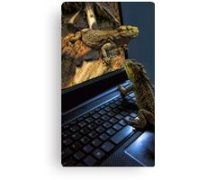 INTERNET DATING...CAN'T WAIT!!...IM MAKING MY WAY OUT TOO U..BEARDED LIZARDS ..ON THE INTERNET U CAN GET IT ALL... LOL.THATS AMORE!!.PICTURE,PILLOW,TOTE BAG,BOOKS ECT, Canvas Print