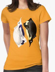 Yin Yang Penguins  Womens Fitted T-Shirt