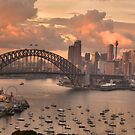 In The Pink (35 Exposure HDR Pano)  - Sydney Harbour, Australia - The HDR Experience by Philip Johnson